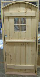 Wood dutch door