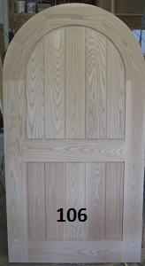 Frame and panel arch top doors