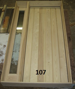 Ash stockade door and sidelight