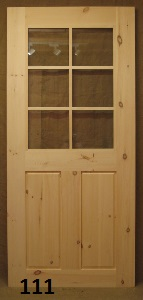 Exterior door with 6 lite window