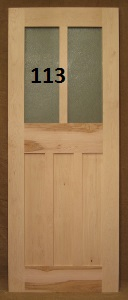 Craftsman style wood door