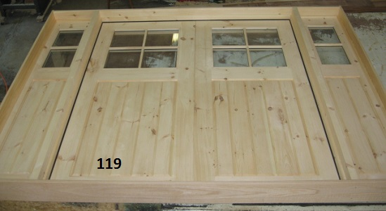 Double door with sidelights