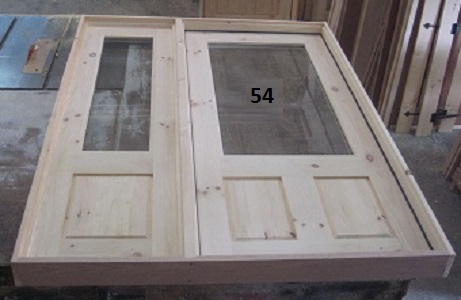 2 panel exterior door with sidelight