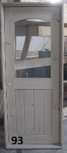 Arch glass exterior door