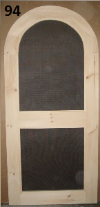 Arch top screen door